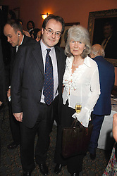 JILLY COOPER and QUENTIN LETTS at the 2008 Oldie of The year Awards and lunch held at Simpsons in The Strand, London on 11th March 2008.<br />