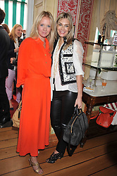 Left to right, KATE REARDON and KIM HERSOV at a lunch to celebrate the the Lulu & Co Autumn/Winter 2011 collection held at Harry's Bar, 26 South Audley Street, London W1 on 21st June 2011.