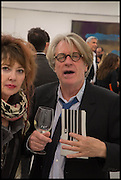 MAGGIE FIRMAN; FRANK COHEN, Frank Cohen and Nicolai Frahm host Julian Schnabel's 'Every Angel has a Dark Side,' private view and party. IN AID OF CHICKENSHED. Dairy Art Centre, 7a Wakefield Street, London. 24 APRIL 2014