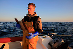 UK ENGLAND CORNWALL SENNEN COVE 11JUN08 - Handline fisherman Will Treneer (19) of Newlyn fishes for Mackerel off the coast of south-west Cornwall on his boat, the Cornish Rose...jre/Photo by Jiri Rezac / WWF UK..© Jiri Rezac 2008..Contact: +44 (0) 7050 110 417.Mobile:  +44 (0) 7801 337 683.Office:  +44 (0) 20 8968 9635..Email:   jiri@jirirezac.com.Web:    www.jirirezac.com..© All images Jiri Rezac 2008 - All rights reserved.