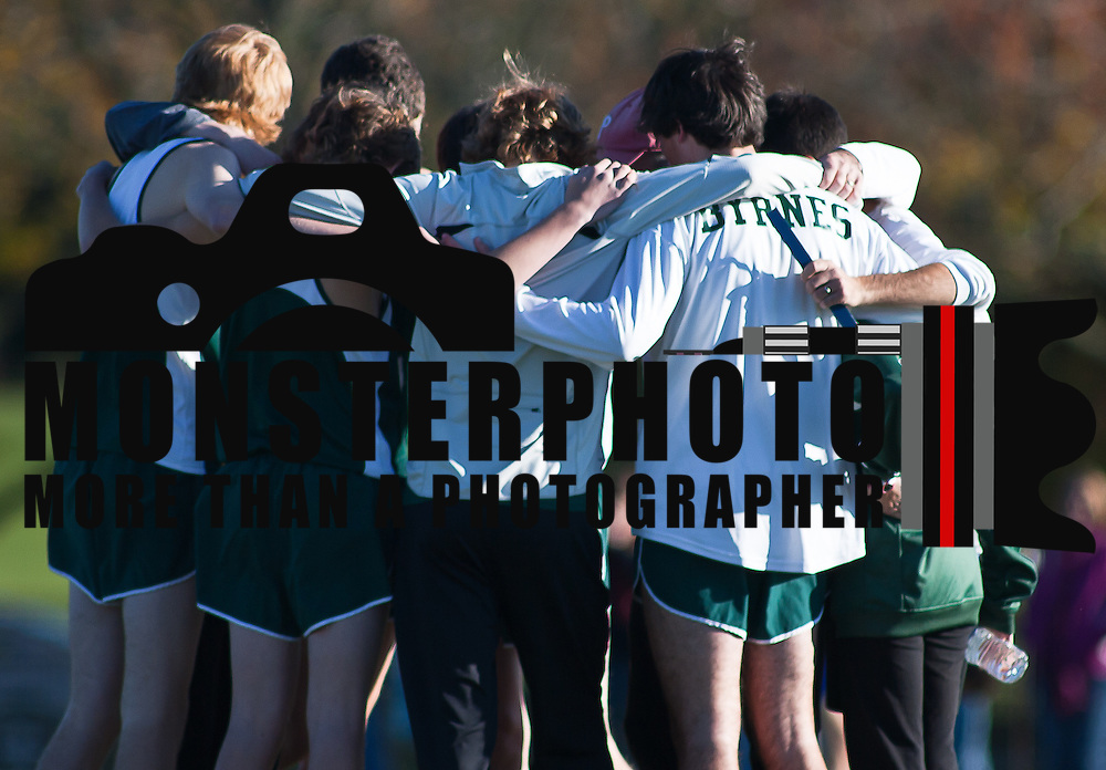 11/05/11 Wilmington DE: Archmere boys cross country team prepare for the start of the race during the New Castle County high school cross country Championship Sat, Nov. 05, 2011 at  Winterthur Estate in Wilmington Delaware.<br /> <br /> Special to The News Journal/SAQUAN STIMPSON