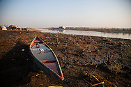 16/12/2015-Chbaish,Iraq- A fisherboat at the banks of the central marsh,now used as water supply for the buffalos.
