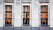 The Sunset Reflectrf In The Windows Of The Cincinnati Museum Center At Union Terminal, Cincinnati Ohio USA