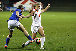 04 November 2016:  Abby Joyce(23) during an NCAA Missouri Valley Conference (MVC) Championship series women's semi-final soccer game between the Indiana State Sycamores and the Illinois State Redbirds on Adelaide Street Field in Normal IL