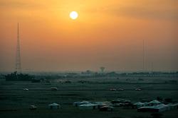 QATAR DOHA 11FEB07 - Tent settlement and communications antenna in the desert near Doha, Qatar...jre/Photo by Jiri Rezac..© Jiri Rezac 2007