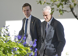 November 10, 2016 - Washington, District of Columbia, United States of America - Jared Kushner and White House Chief of Staff Denis McDonough walk through the Rose Garden as they discuss the Presidential Transition as United States President Barack Obama meets US President -elect Donald Trump in the Oval Office of the White House in Washington, DC on November 10, 2016..Credit: Ron Sachs / CNP. (Credit Image: © Ron Sachs/CNP via ZUMA Wire)
