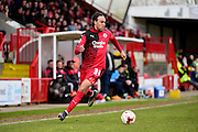 Crawley Town Defender Charles Dunne (31) during the Sky Bet League 2 match between Crawley Town and Hartlepool United at the Checkatrade.com Stadium, Crawley, England on 19 March 2016. Photo by Jon Bromley.