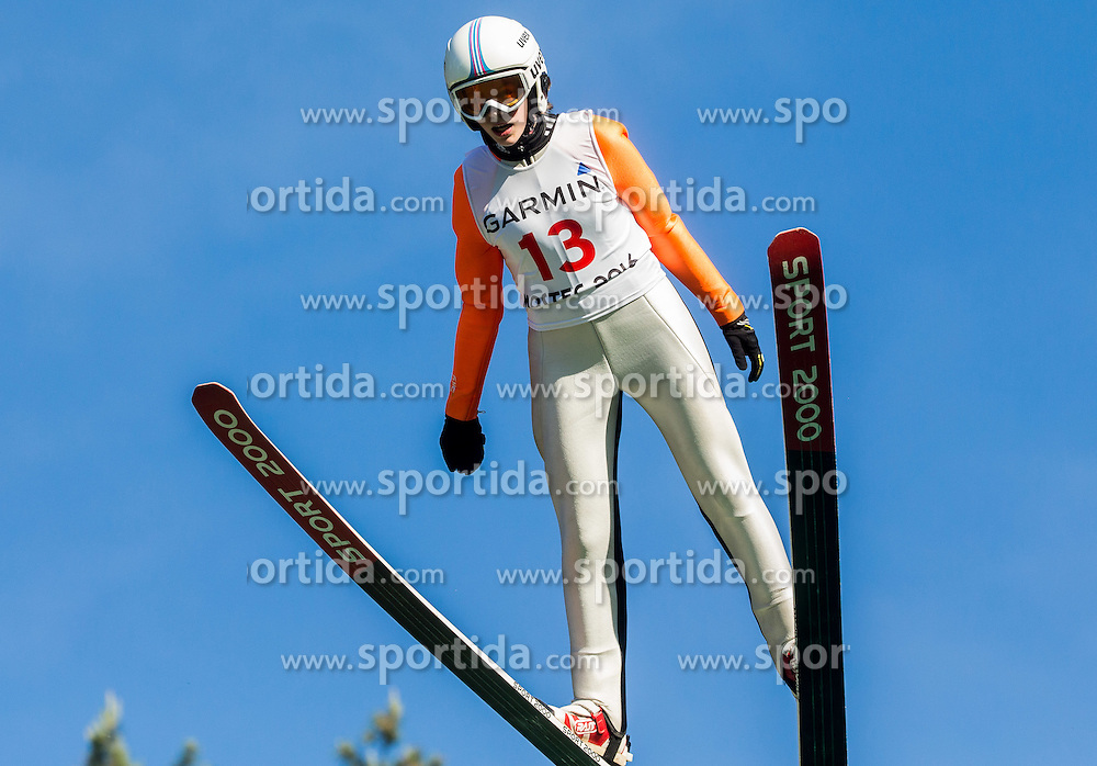Jernerja Brecl (SLO) during Ski jumping Summer cup - 45. Revija skokov Mostec on June 4, 2016 in Mostec hill, Ljubljana, Slovenia.Photo by Vid Ponikvar / Sportida