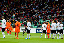 Teams during the UEFA European Under-17 Championship Final match between Germany and Netherlands on May 16, 2012 in SRC Stozice, Ljubljana, Slovenia. (Photo by Urban Urbanc / Sportida.com)