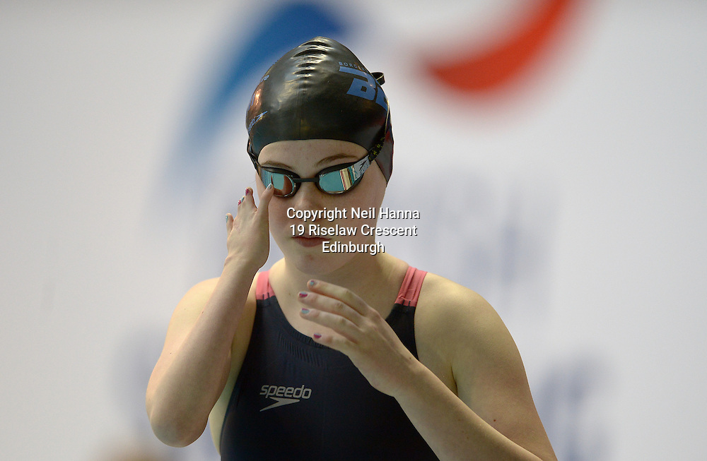 British Para-Swimming International Meet 2016, Tollcross Swimming Centre, Glasgow.<br /> <br /> Event 201 Womens MC 100m Backstroke <br /> <br /> Beth Johnston<br /> <br />  Neil Hanna Photography<br /> www.neilhannaphotography.co.uk<br /> 07702 246823