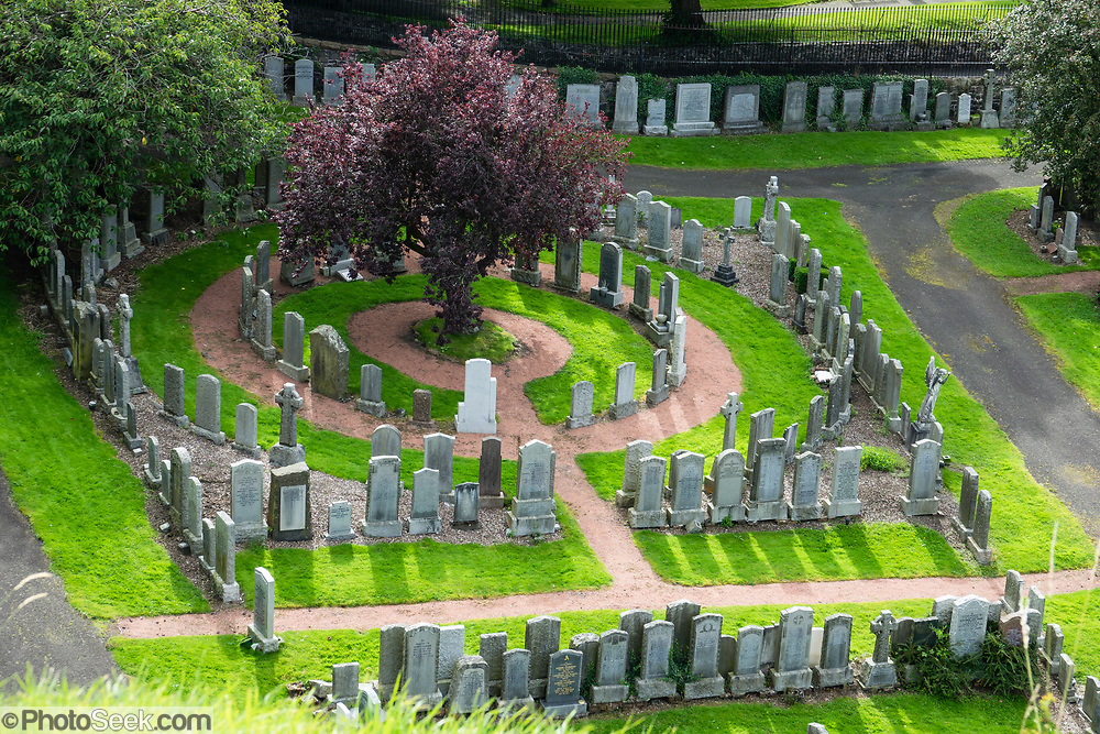 A cemetery in Stirling, Scotland, United Kingdom, Europe.