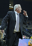 December 30, 2011: Northwestern Wildcats head coach Joe McKeown argues a call during the NCAA women's basketball game between the Northwestern Wildcats and the Iowa Hawkeyes at Carver-Hawkeye Arena in Iowa City, Iowa on Wednesday, December 30, 2011.