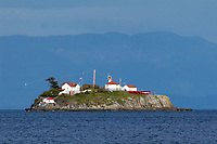 Chrome Island Lighthouse off the Southern tip of Denman Island   Photo: Peter Llewellyn