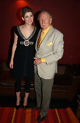 Actress JODIE WHITTAKER and actor LESLIE PHILLIPS at the 9th Annual British Independent Film Awards at the Hammersmith Palais, London on 29th November 2006.<br />