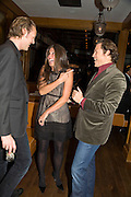LORD EDWARD SPENCER-CHURCHILL, ELIZABETH SALTZMAN AND ARKI BUSSON, Dinner after the opening of Kevin Lynch: Octagon - private view Hamiltons Gallery, Berkeley St. , London, W1, 17 January 2008. -DO NOT ARCHIVE-© Copyright Photograph by Dafydd Jones. 248 Clapham Rd. London SW9 0PZ. Tel 0207 820 0771. www.dafjones.com.