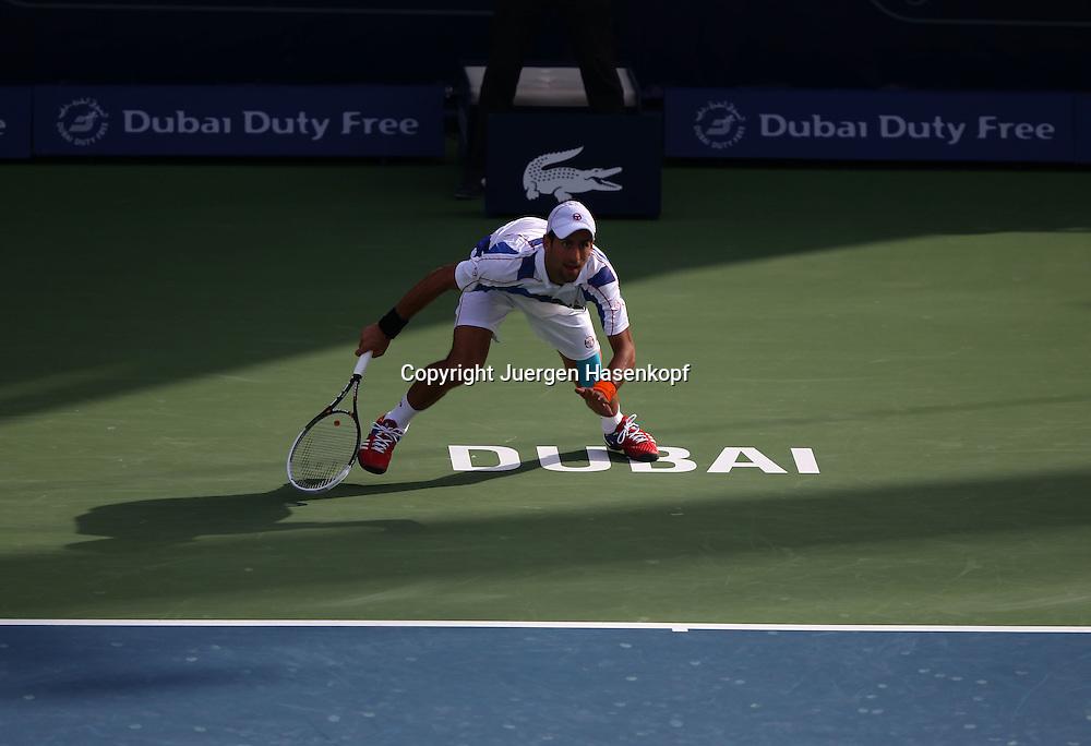 Dubai Tennis Championships 2011, ATP Tennis.Turnier, International Series, Dubai Tennis Stadium,.U.A.E. Novak Djokovic (SRB), action, Serie Bild 1