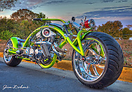 This bike won the Editor's Choice at the Motorcycle Expo and Bike Builders Invitational. Check out the size of that front tire.