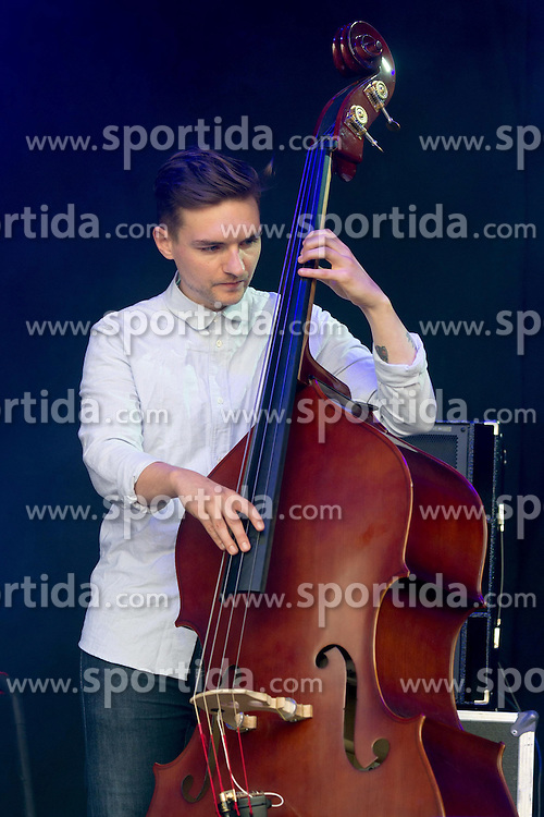 Irish indie folk band from Dublin - Villagers - Danny Snow (double bass), performing live in concert for the concert series, LIVE AT CHELSEA at the The Royal Hospital Chelsea, London, United Kingdom, Date: 12/06/2015. EXPA Pictures &copy; 2015, PhotoCredit: EXPA/ Photoshot/ Tim Holt<br /> <br /> *****ATTENTION - for AUT, SLO, CRO, SRB, BIH, MAZ only*****