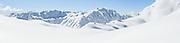 Fresh snow on the mountains above Franz Josef Glacier
