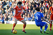 Shrewsbury Town midfielder Josh Laurent (28) on the ball during the EFL Sky Bet League 1 match between Peterborough United and Shrewsbury Town at London Road, Peterborough, England on 23 February 2019.