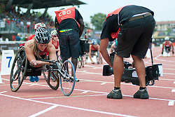 Behind the scenes, MCCLAMMER Chelsea, USA, 800m, T53, 2013 IPC Athletics World Championships, Lyon, France