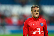Paris Saint Germain's Brazilian forward Neymar Jr warms up before the French championship L1 football match between Paris Saint-Germain (PSG) and Saint-Etienne (ASSE), on August 25, 2017 at the Parc des Princes in Paris, France - Photo Benjamin Cremel / ProSportsImages / DPPI