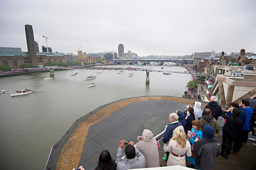 Thames Diamond Jubilee River Pageant ,part of Queen Elizabeth II's Diamond Jubilee..© Antony Jones..
