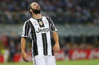 Milano - 18.09.2016 - Serie A 2016-17 - 4a giornata - Inter-Juventus - Nella foto: La delusione di Gonzalo Higuain - Juventus