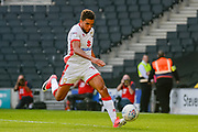 Milton Keynes Dons defender (on loan from Bristol City) Scott Golbourne (12)  on the ball during the EFL Sky Bet League 1 match between Milton Keynes Dons and Oxford United at stadium:mk, Milton Keynes, England on 2 September 2017. Photo by Dennis Goodwin.