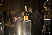 Oswald Boateng, 130 Years Of Veuve Clicquot Yellow, The Wapping Project, Wapping Wall, London, E1,13 November 2007. -DO NOT ARCHIVE-© Copyright Photograph by Dafydd Jones. 248 Clapham Rd. London SW9 0PZ. Tel 0207 820 0771. www.dafjones.com.