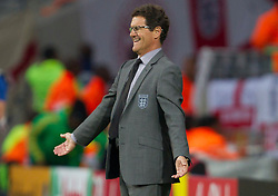 Head coach of England Fabio Capello (ITA) during the 2010 FIFA World Cup South Africa Group C Third Round match between Slovenia and England on June 23, 2010 at Nelson Mandela Bay Stadium, Port Elizabeth, South Africa. England defeated Slovenia 1-0 and qualified for the next round, Slovenia not. (Photo by Vid Ponikvar / Sportida)