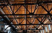 """A view of the vaulted ceilings at the newly opened Garver Feed Mill event space during the """"Garver Gourmet"""" hosted by Sitka Salmon Shares in Madison, Wisconsin, Saturday, Sept. 7, 2019."""