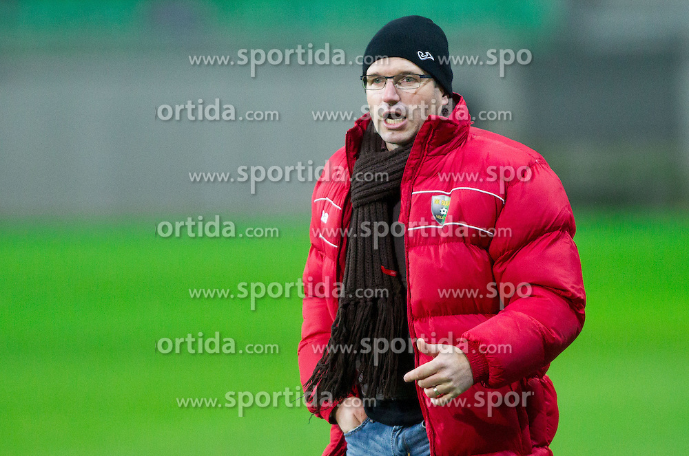 Jernej Javornik, head coach of Rudar during football match between NK Olimpija Ljubljana and NK Rudar Velenje in Round 19 of Prva liga Telekom Slovenije 2013/14, on December 1, 2013 in SRC Stozice, Ljubljana, Slovenia. Photo by Vid Ponikvar / Sportida