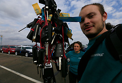 UK ENGLAND SHEERNESS 21SEP17 - Greenpeace actvists scaled a fence and disable imported VW and Audi diesel cars by lifting the bonnet and removing the keys. <br /> <br /> <br /> <br /> jre/Photo by Jiri Rezac<br /> <br /> <br /> <br /> © Jiri Rezac 2017
