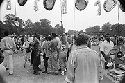 View of the crowd from a stall, Moss Side Carnival, Alexandra Park, Manchester, England 1989
