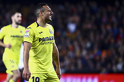 January 26, 2019 - Valencia, Spain - Santi Cazorla  of Villarreal CF  during  spanish La Liga match between Valencia CF vs Villarreal CF at Mestalla Stadium on Jaunary  26, 2019. (Credit Image: © Jose Miguel Fernandez/NurPhoto via ZUMA Press)