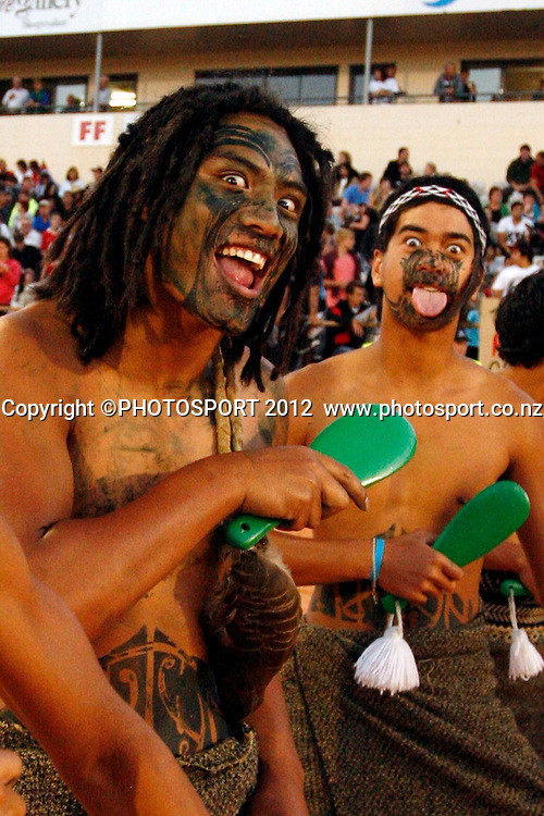 The Chiefs Haka group in action during their game at Baypark Stadium, Mt Maunganui, New Zealand. Friday,16 March 2012. Photo: Dion Mellow/photosport.co.nz