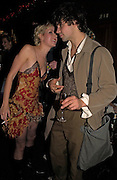 Ticky Hedley-Dent and Conrad Shawcross, Tatler magazine Little Black Book party, Tramp. Jermyn St. 10 November 2004. ONE TIME USE ONLY - DO NOT ARCHIVE  © Copyright Photograph by Dafydd Jones 66 Stockwell Park Rd. London SW9 0DA Tel 020 7733 0108 www.dafjones.com