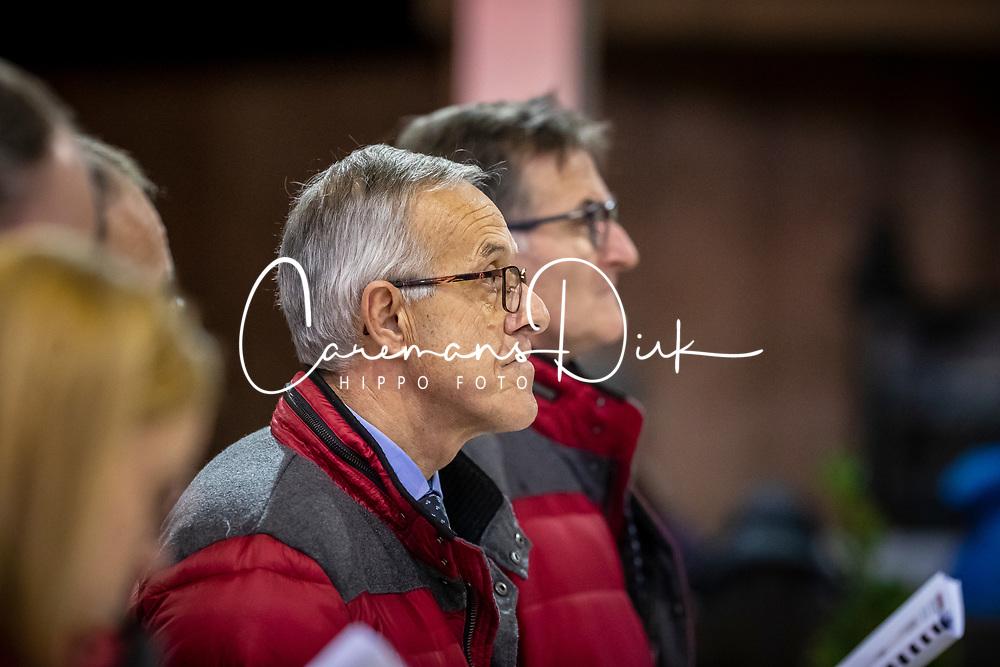 Keurinscommissie dressuur, Jef Govaerts<br /> BWP Hengsten Keuring - Lier 2020<br /> © Hippo Foto - Dirk Caremans<br /> 16/01/2020