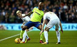 Andre Wisdom of Derby County takes on Stuart Dallas of Leeds United - Mandatory by-line: Robbie Stephenson/JMP - 31/10/2017 - FOOTBALL - Elland Road - Leeds, England - Leeds United v Derby County - Sky Bet Championship
