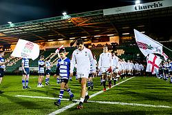 Sam Maunder of England U20 leads out his side - Rogan/JMP - 21/02/2020 - Franklin's Gardens - Northampton, England - England U20 v Ireland U20 - Under 20 Six Nations.