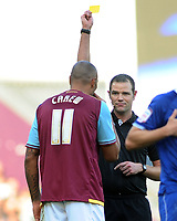 Football - The Championship - West Ham United vs. Leicester City<br /> John Carew - WHU is booked by referee mr Linington