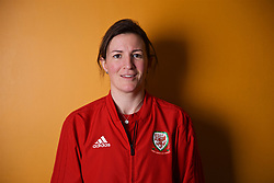 NEWPORT, WALES - Thursday, January 17, 2019: Wales' Helen Ward during a media session at the Coldra Court Hotel ahead of the International Friendly game against Italy. (Pic by David Rawcliffe/Propaganda)
