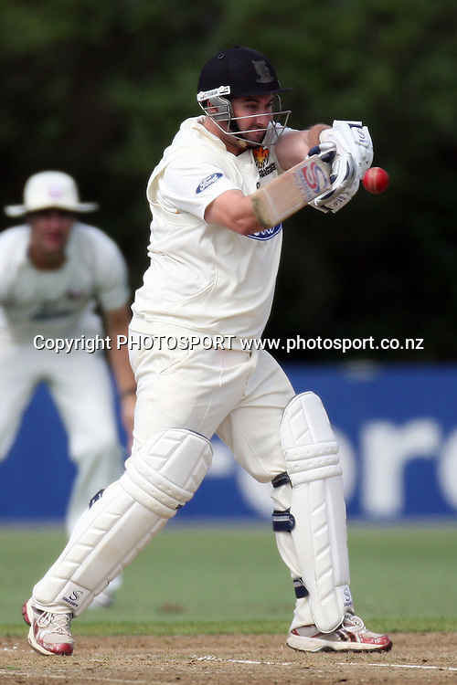 Neal Parlane, Plunket Shield, 4 day domestic cricket. Auckland Aces v Wellington Firebirds, Colin Maiden Park, Auckland. 22 March 2011. Photo: William Booth/photosport.co.nz