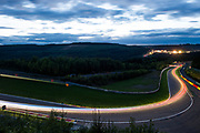 July 27-30, 2017 -  Total 24 Hours of Spa, light trails of racing action during the 24 hours of Spa.