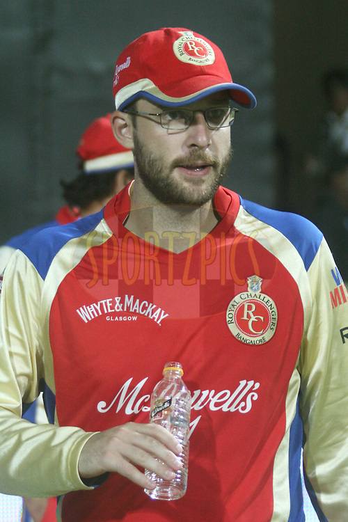 Daniel Vettori (captain of RCB) during the award ceremony after the match 8 of the the Indian Premier League ( IPL ) Season 4 between the Royal Challengers Bangalore and the Mumbai Indians held at the Chinnaswamy Stadium, Bangalore, Karnataka, India on the 12th April 2011..Photo by Vino John/BCCI/SPORTZPICS