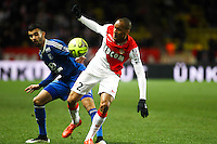 FABINHO / Rachid GHEZZAL - 01.02.2015 - Monaco / Lyon - 23eme journee de Ligue 1 -<br />Photo : Serge Haouzi / Icon Sport
