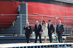© Licensed to London News Pictures. 05/06/2013. Newham, United Kingdom. HRH The Duke of Edinburgh visited the steamship SS Robin at the Royal Docks in Newham to unveil a plaque marking hew new permanent home. She is one of only 3 ships in London that are in the National Historic Fleet's Core Collection and, after a final phase of restoration, will open to the public in 2014. credit : Rob Powell/LNP