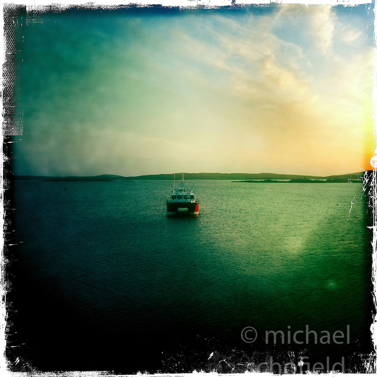 Boat, Harris..Hipstamatic images taken on an Apple iPhone..©Michael Schofield.