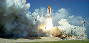 Launch of Space Shuttle Challenger, 1985. NASA photograph.